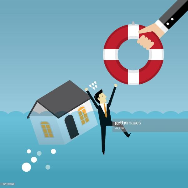 Foreclosure, Subprime Loan Crisis, House, Life Belt, Loan